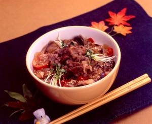 牛肉と野菜のトロトロ丼
