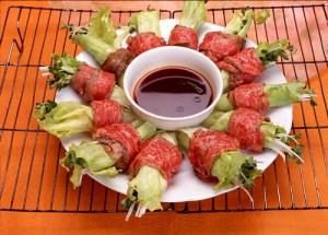中華風牛肉のシャキシャキ巻き